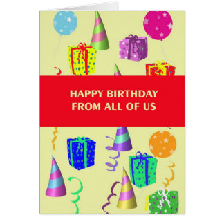 Birthday Card From All Of Us