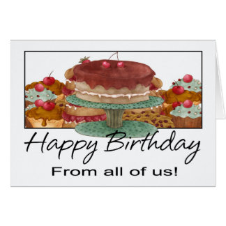 Birthday Card - From All Of Us - Business Birthday