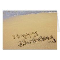 Birthday Card: Happy Birthday on the Beach Card