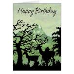 Birthday Card Happy Birthday With Deer