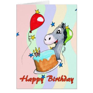 Birthday Card - Happy Donkey
