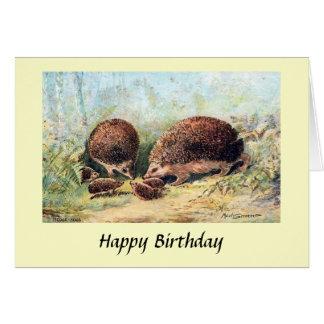 Birthday Card - Hedgehogs