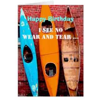 Birthday card humor kayaks photography