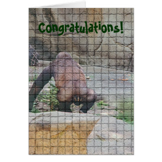 "Birthday Card humorous ,""Bad Mannered Ape"""