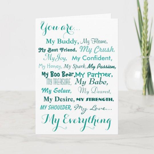 Birthday Card Husband Wife Male Female Love Zazzle