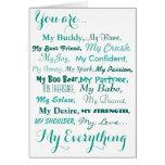 birthday card husband wife male female. love