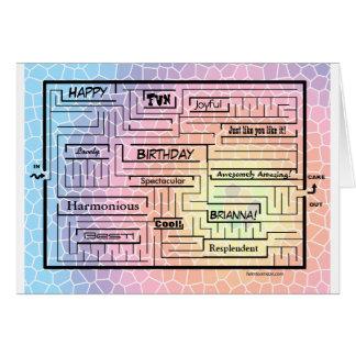 Birthday card/maze for Brianna (customizable!) Card