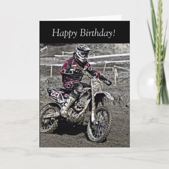 Birthday Card Motocross Guy Card Zazzle