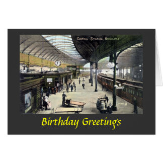 Birthday Card - Newcastle-upon-Tyne Station