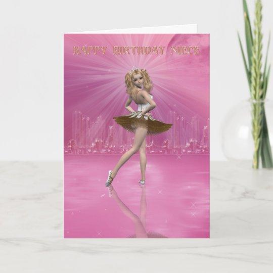 Birthday Card For Niece.Birthday Card Niece Birthday Ballet For Niece