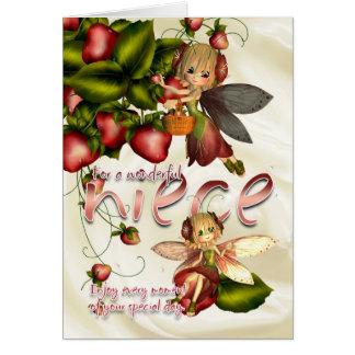 Birthday Card - Niece - Moonies Cutie Pie Fairies