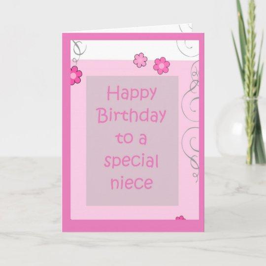 Birthday Card For Niece.Birthday Card Niece Pink Daisy