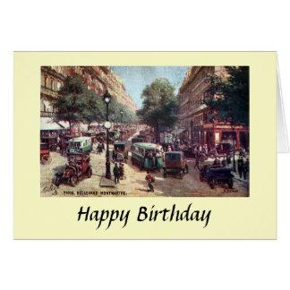 Birthday Card - Paris, Blvd Monmartre