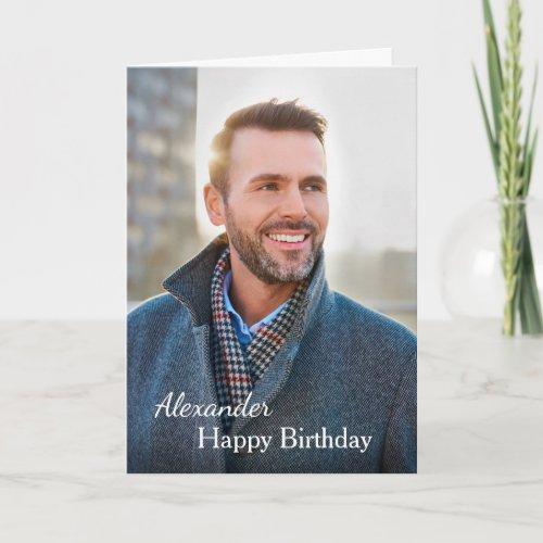 Birthday Card Photo Custom