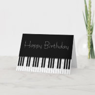 Birthday Card - Piano Keyboard Keys