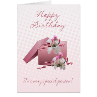Birthday Card - Pink Gift Box - To A Very Special