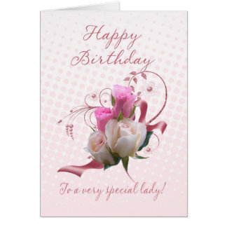 Birthday Card - Pink Roses - To A Very Special Lad