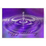 Birthday Card - Purple Water Drop