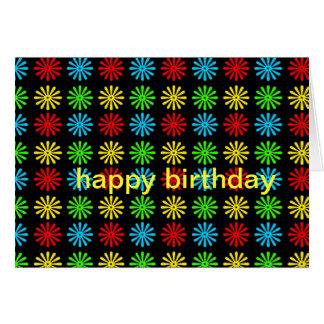 Birthday Card - RGBY Retro Daisy