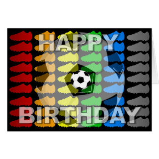 soccer birthday cards  zazzle, Birthday card