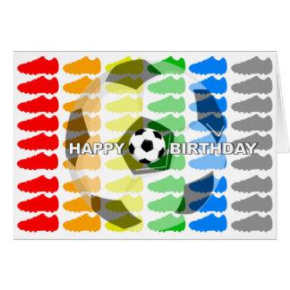Birthday Card Soccer Shoe White