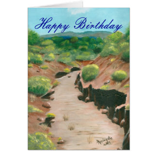 Birthday Card- Southwest Arroyo Stationery Note Card