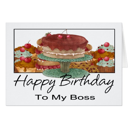 Birthday Card - To My Boss - Business Birthday Car