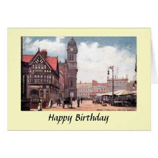 Birthday Card - Town Hall, Derby
