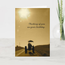 Birthday Card Tractor: Thinking of You