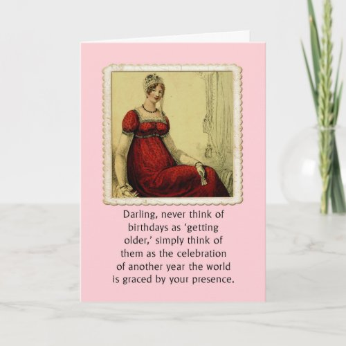Birthday Card Vintage Ackerman Lady Humor