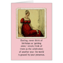 Birthday Card Vintage Ackerman Lady Humor