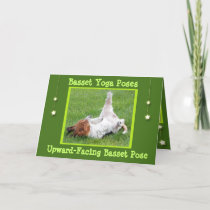 The gift rx yoga cards birthday card wfunny basset hound yoga poses m4hsunfo