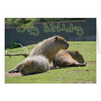 Birthday Card with Capybara