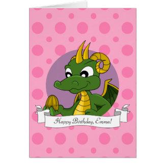 Birthday Card with Cartoon dragon