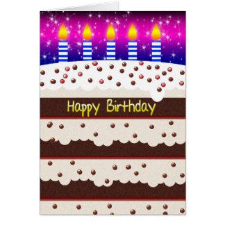 Birthday Card With Chocolate Birthday Cake