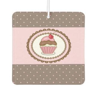 Birthday card with cupcake air freshener