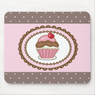 Birthday card with cupcake mouse pad
