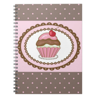 Birthday card with cupcake notebook