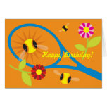 Birthday card with cute tennis design