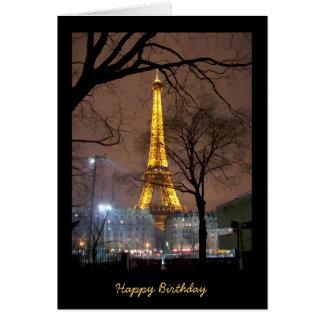 Birthday Card with Eiffel Tower Paris