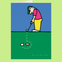 Birthday card with golf theme