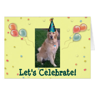 Birthday Card With Jake The Golden Retriever