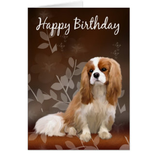 Birthday Card With King Charles Spaniel