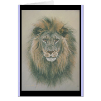 Birthday card with Lion Picure