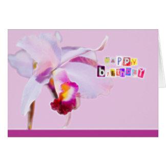 Birthday card with orchids tarjeta de felicitación