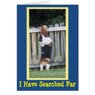 Birthday Card with Searching Basset Hound