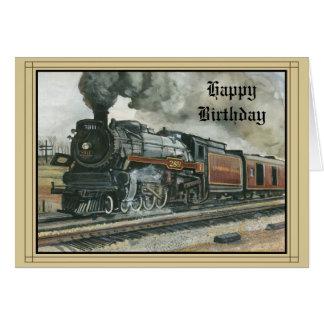 Birthday Card with Train