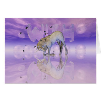 Birthday card with Unicorn, Wish