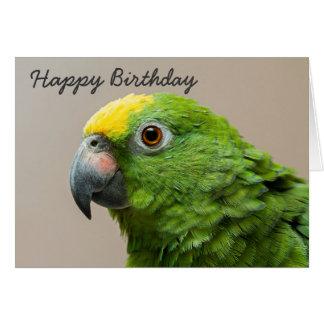 Birthday card Yellow Headed Amazon Parrot