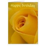 Birthday Card - Yellow Rose Flower